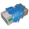 100 Blue Vinyl Gloves (Large)
